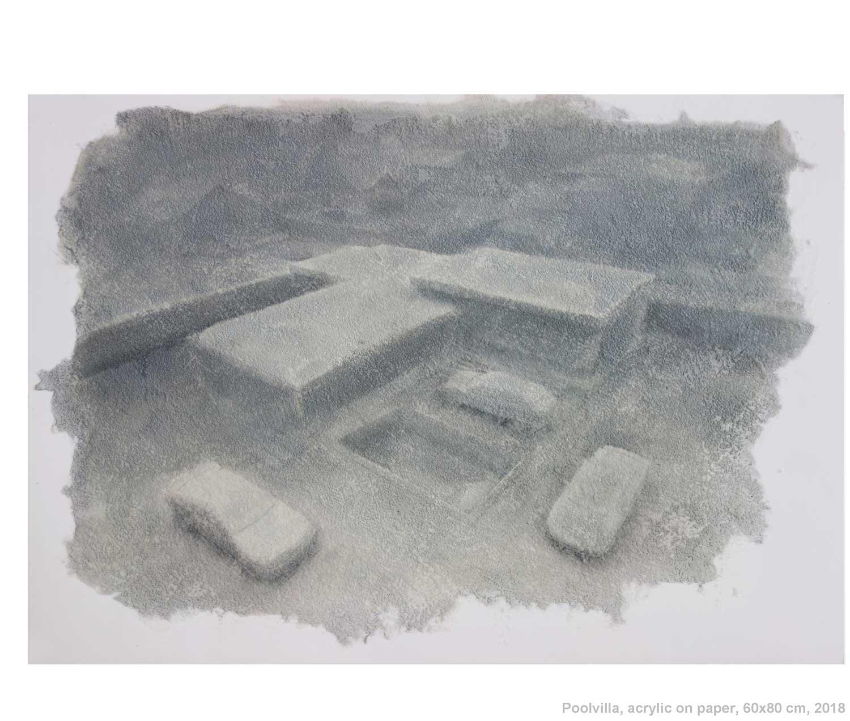 Berlin-Neukölln 5, acryl auf Leinwand, 200x100cm, 2015, Krilyk