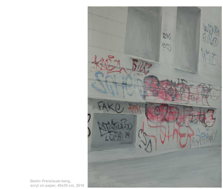 Berlin-Hermannplatz, acryl on photography, 30x40 cm, 2016, Xavier Krilyk